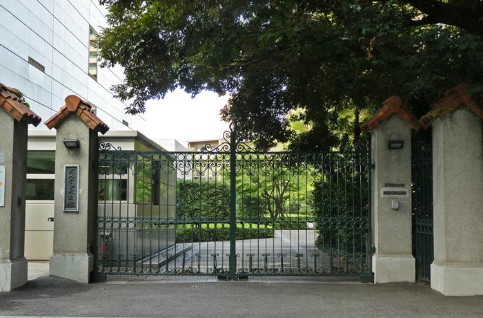 東京スペイン大使館の外観