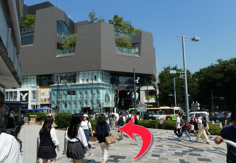 3ce原宿店舗のアクセス 表参道