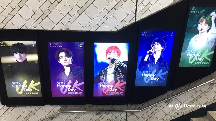 BTS(防弾少年団)のJUNGKOOK・happybirthday広告