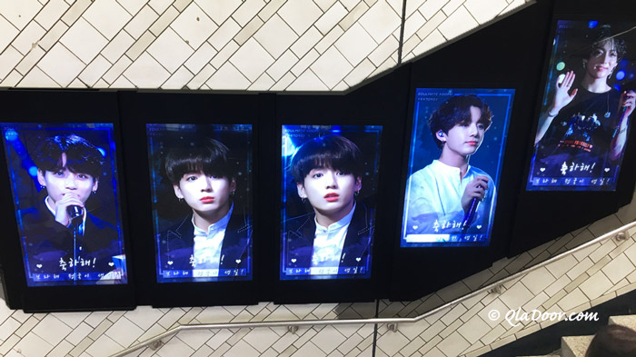 BTS(防弾少年団)のジョングクの誕生日広告