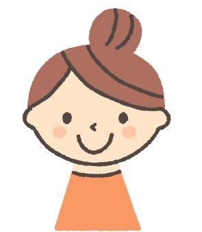若い女性キャラクター