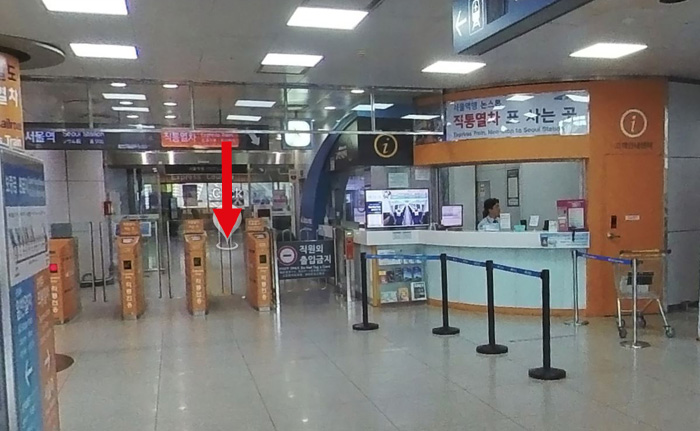 韓国空港から電車乗り方