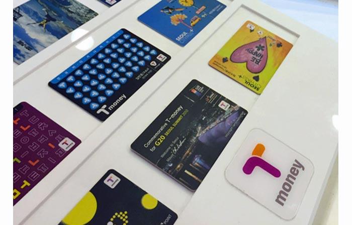 韓国の交通カード tmoneyの種類