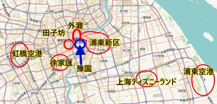 上海観光エリア別地図