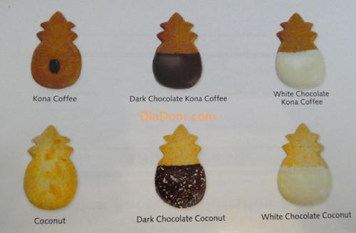 ホノルルクッキーの色々な種類