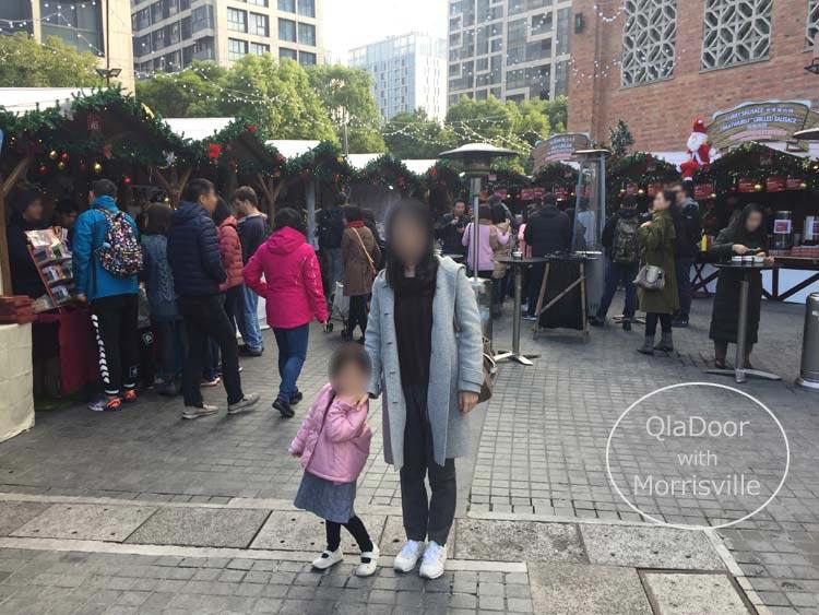上海の12月クリスマスマーケット