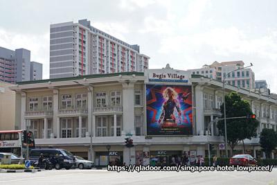 ブギスエリアにあるシンガポールホテル