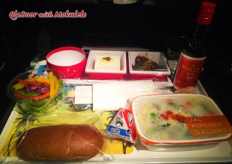 ハワイ行きのJALの機内食