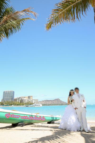 ハワイ結婚式のウェディング写真