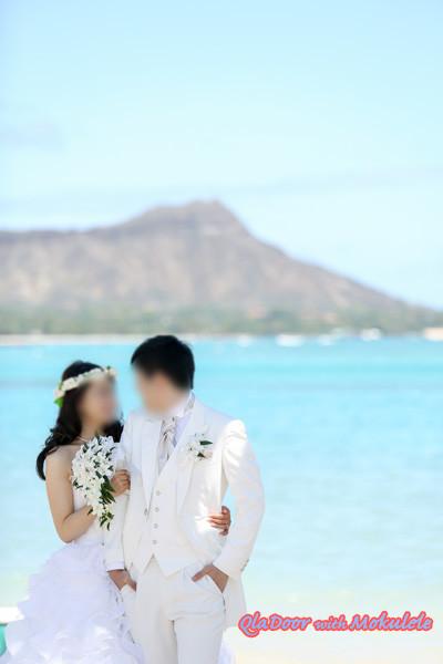 ハワイ結婚式の写真
