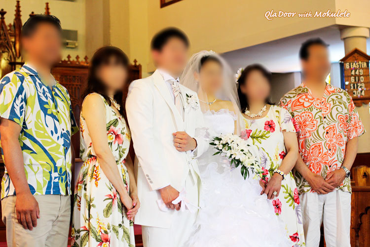 ハワイ挙式での家族の服装や髪型