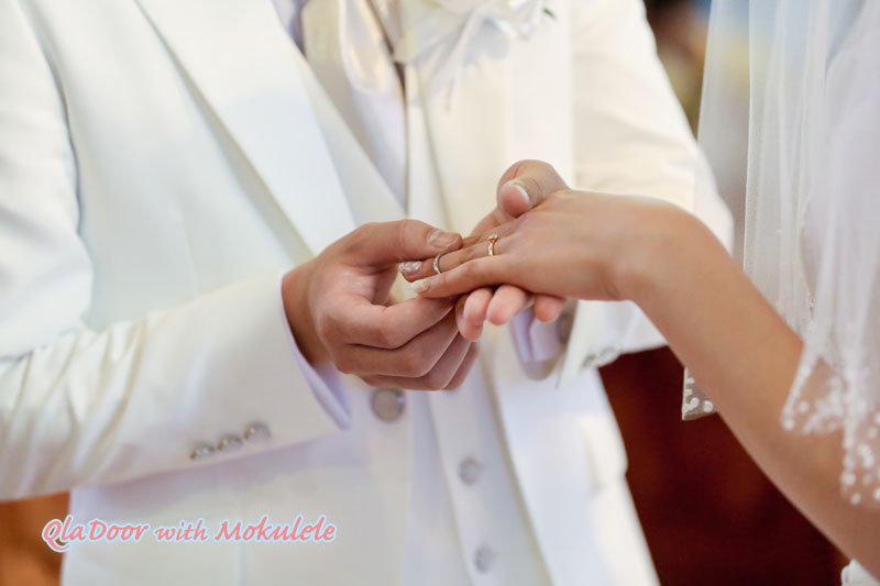 ハワイの結婚式 指輪交換