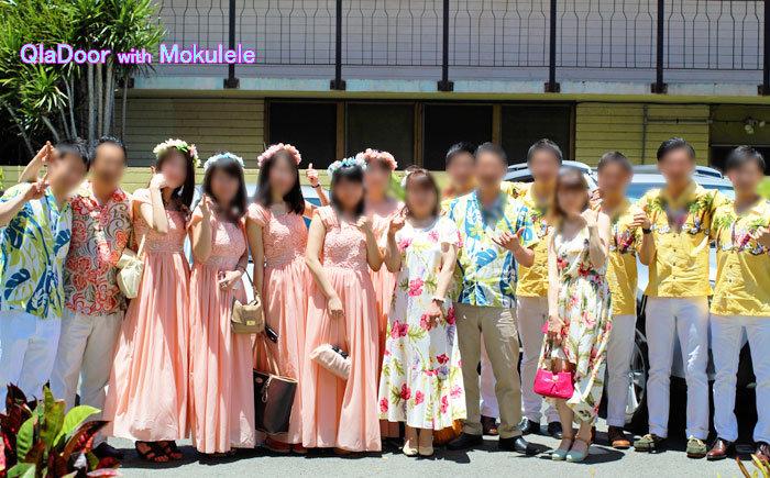 ハワイ挙式での両親と家族・親戚の服装