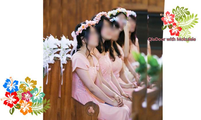 ハワイ挙式での女性参列者の服装