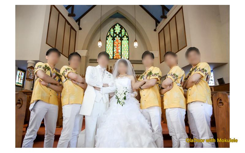 ハワイ挙式でのグルームズマン