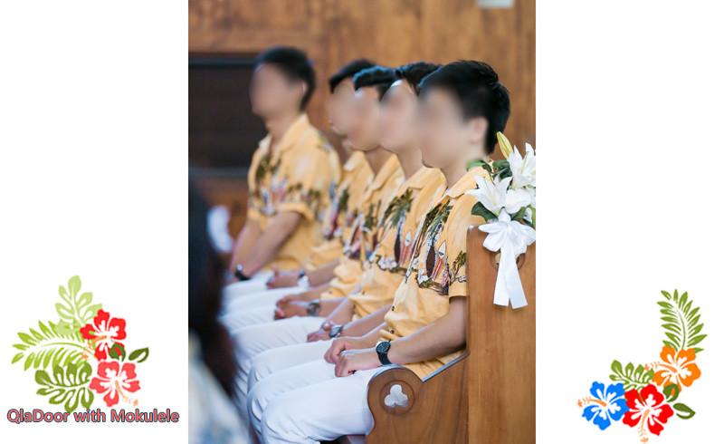 ハワイ挙式での男性参列者の服装