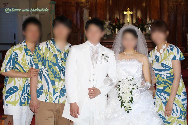 ハワイ結婚式の参列者のムームードレス