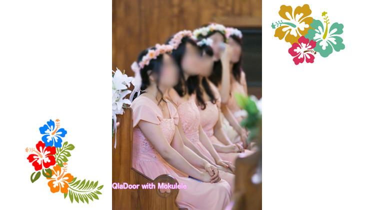 ハワイ挙式での女性参列者の髪型