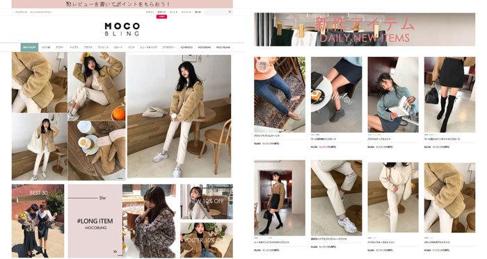 韓国ファッションオンライン通販 mocobling