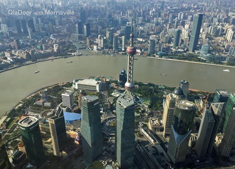 上海タワー展望台からの景色