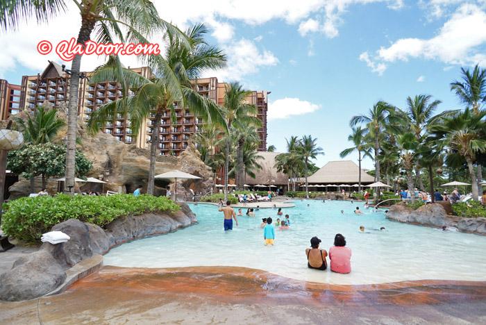 ハワイ・アウラニディズニーのスイミングプール
