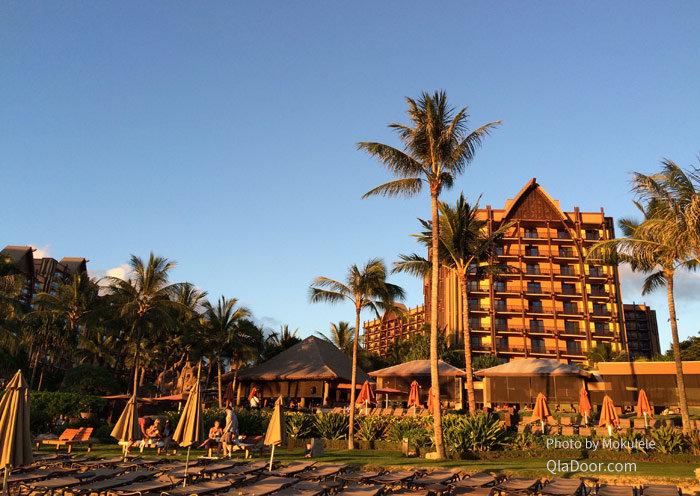 アウラニディズニーリゾート背景のコオリナビーチ