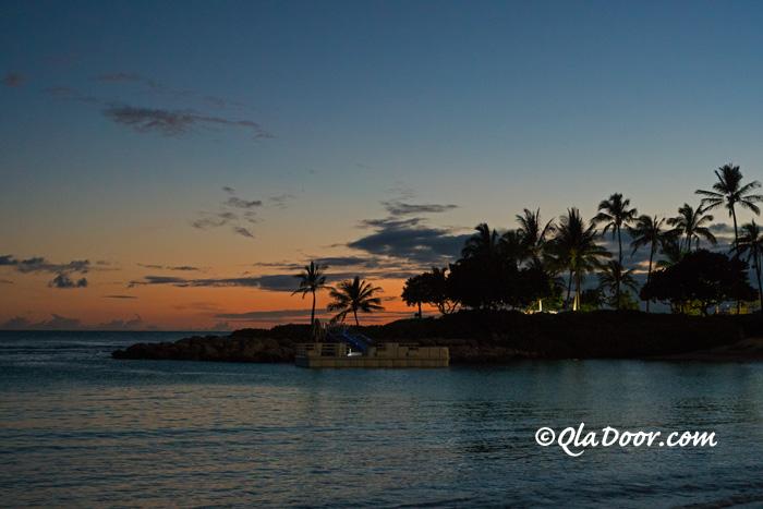 ハワイのアウラニディズニーリゾートのサンセット