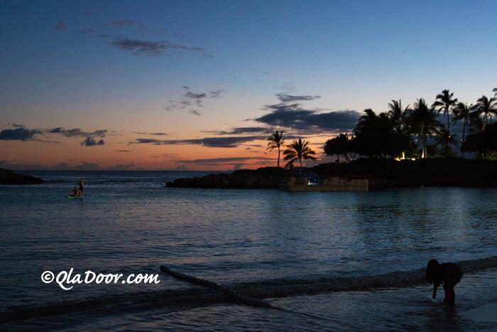 ハワイのアウラニディズニーリゾート前のコオリナビーチ