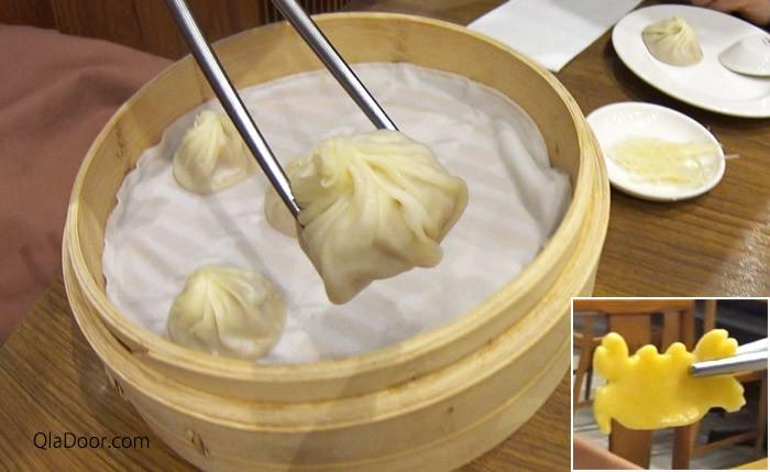 ディンタイフォン(鼎泰豊)のカニみそ小籠包