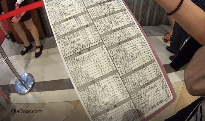 ディンタイフォン(鼎泰豊)のメニュー写真