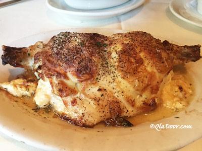 ルースズクリス・ステーキハウスのプライムタイムで食べたメニュー・地鶏胸肉のオーブンロースト