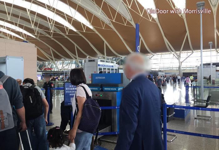 上海浦東国際空港のセキュリティーチェック