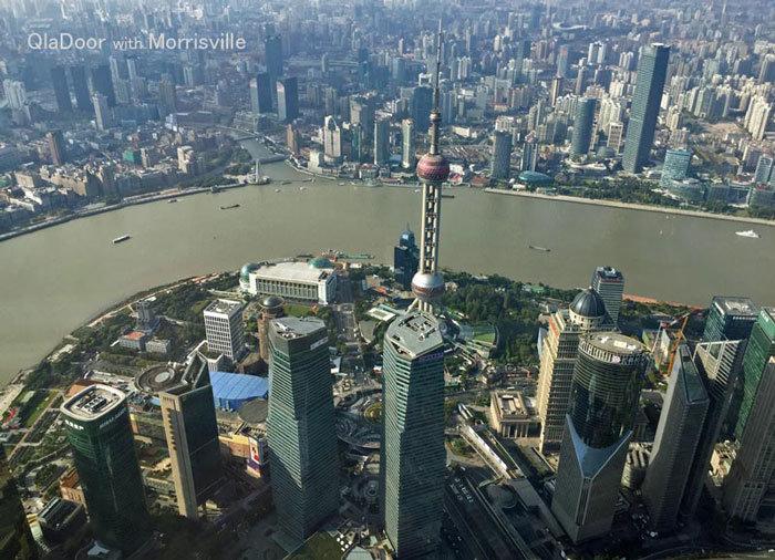 上海タワー・118階からの景色