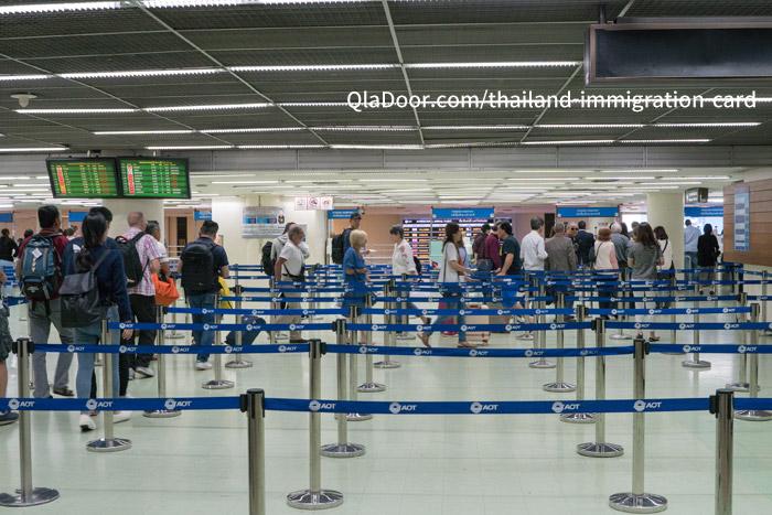 タイの入国審査列の様子