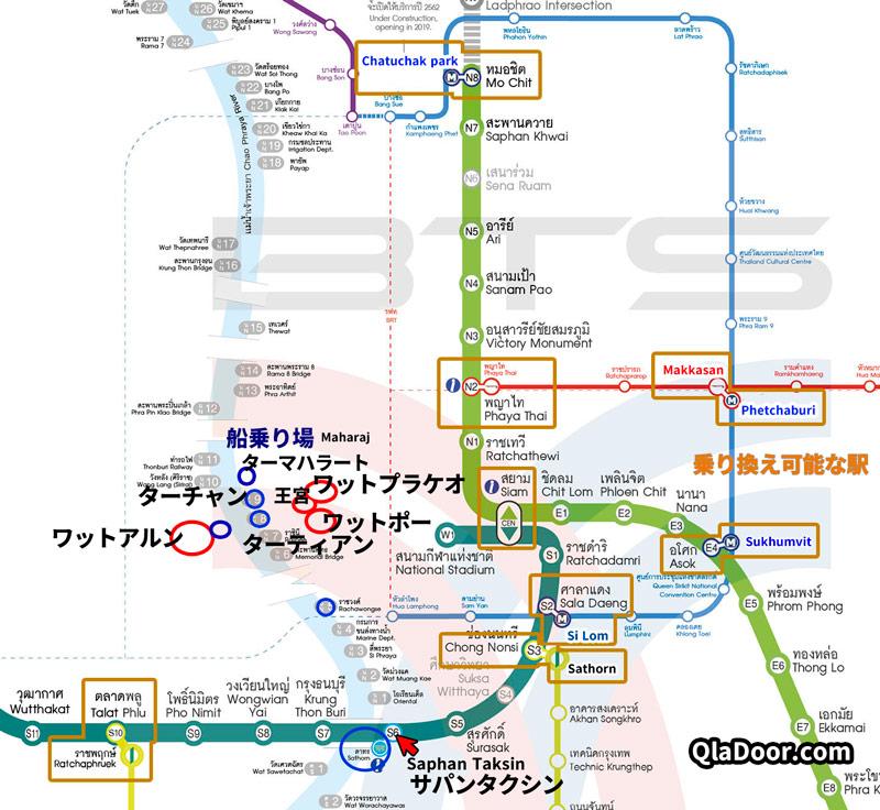 バンコク地下鉄路線図
