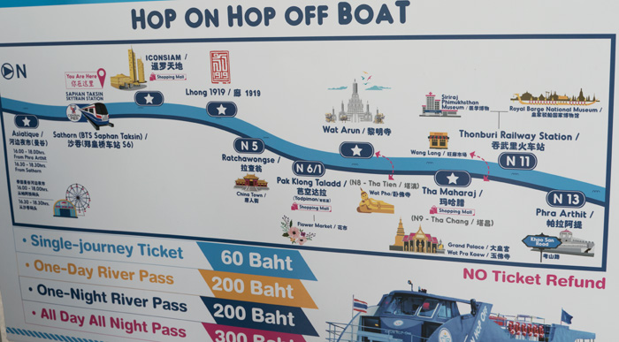 チャオプラヤー・ツーリストボートの地図