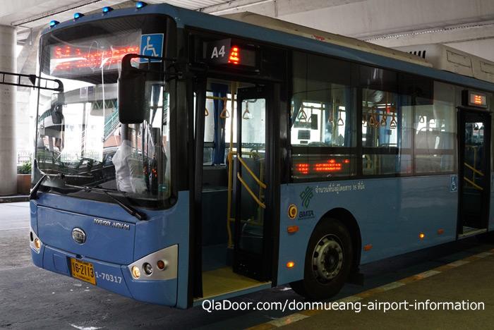 ドンムアン空港のバスでのアクセス
