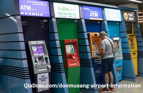 ドンムアン空港のatmキャッシング