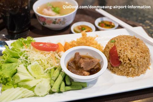 ドンムアン空港の食事