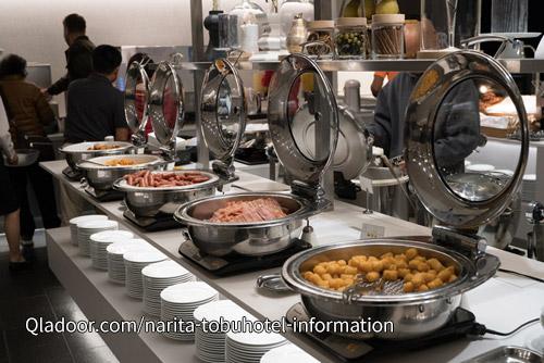 成田東武ホテルの朝食ビュッフェ