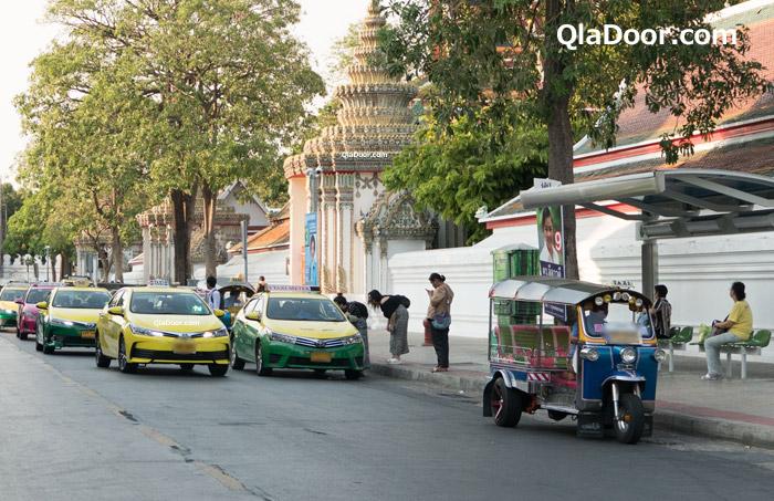 タイの観光地周辺のタクシー
