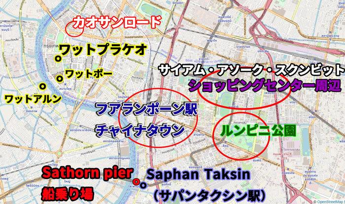 ワットプラケオの観光マップ