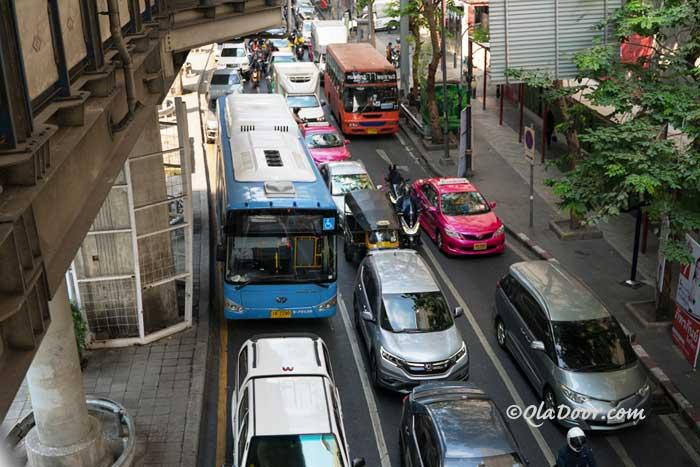 バンコクの交通渋滞