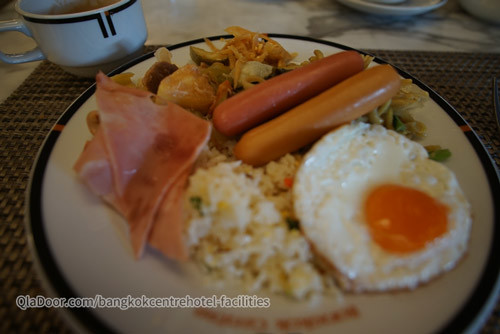 バンコクセンターホテルの朝食メニュー