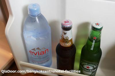バンコクセンターホテルの冷蔵庫の中