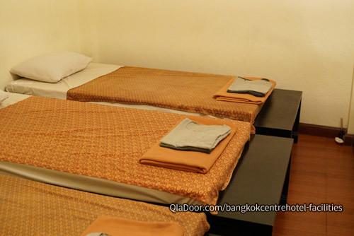バンコクセンターホテルのタイ式マッサージルーム