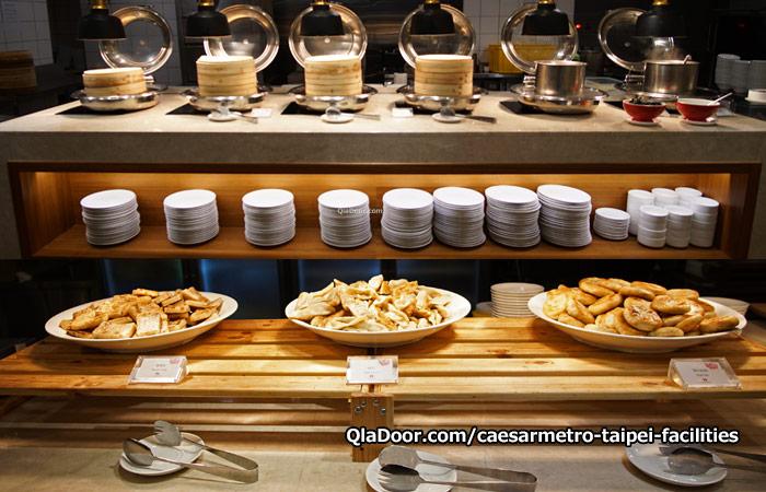 シーザーメトロ台北ホテルの朝食ブッフェメニュ