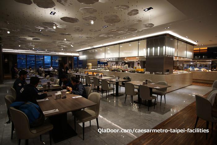 シーザーメトロ台北ホテルの朝食レストラン