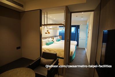 シーザーメトロ台北ホテルのファミリスイートルーム写真