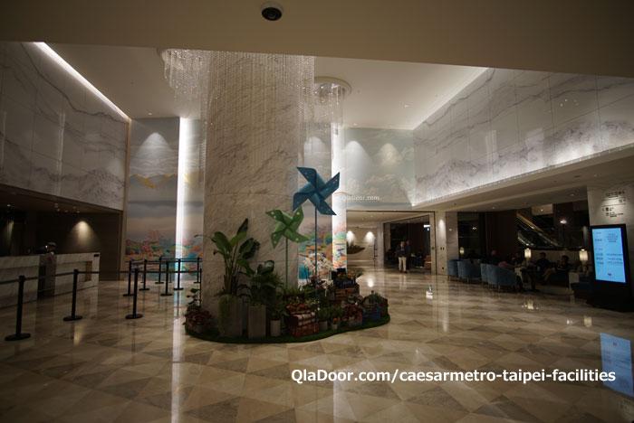 シーザーメトロ台北ホテルのロビ